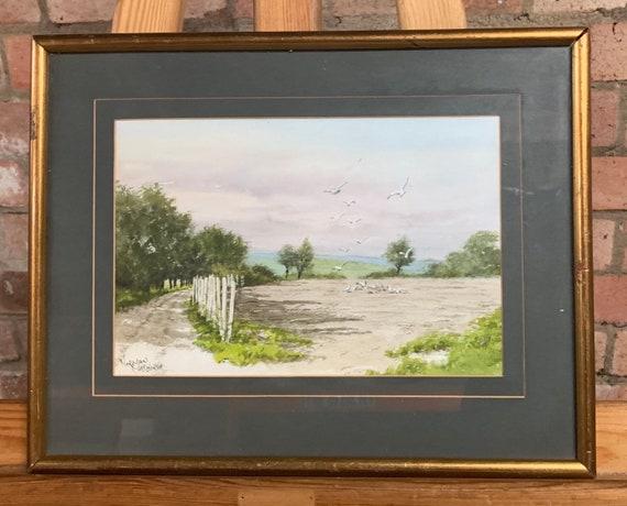 Original Watercolour By Norman Chesworth Of A Rural Scene circa 1960's