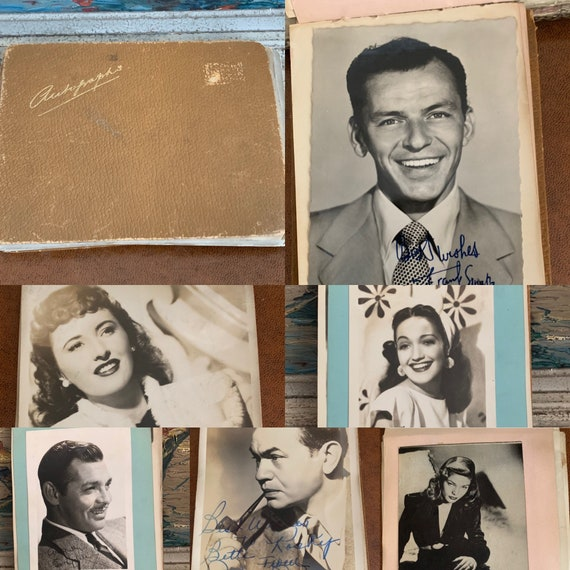 Autograph Book Of Various American Actors And Actresses From The Movies