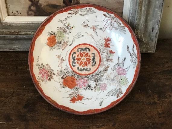 Beautiful Japanese Kutani Porcelain Hand Painted Plate