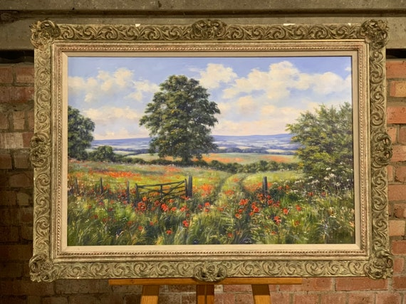 Beautiful Original Oil Painting By The British Floral Artist Deborah Poyntonv