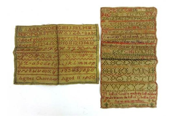 Two 19th Century Unframed Samplers