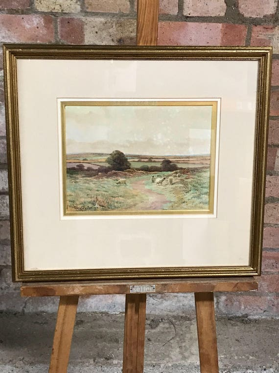 Beautiful Original Watercolour By The English Artist, George Oyston Dated 1910