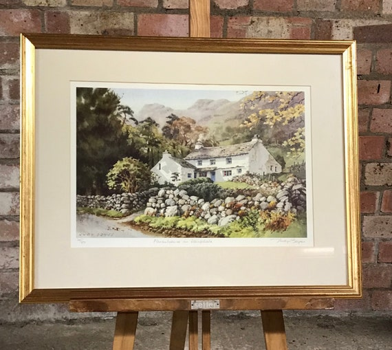 Framed & Glazed Limited Edition Print Farmhouse In Langdale, The Lake District, By Judy Boyes