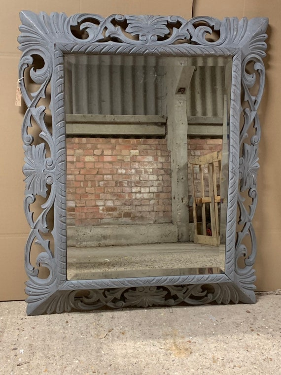 Large French Decorative Late 19thC/early 20thC Bevel Edge Wall Mirror