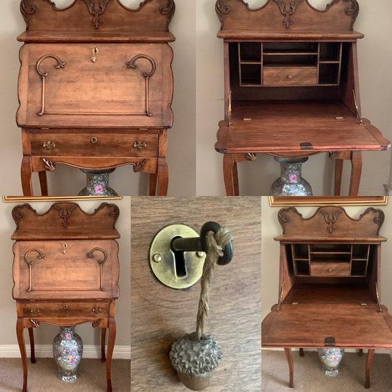 Stunning Victorian Mahogany Bureau Desk Circa 1880