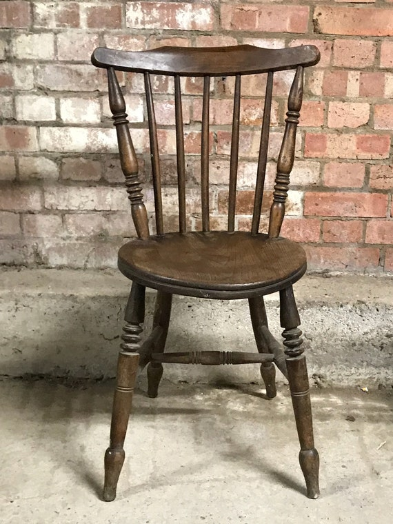 Lovely 19th Century Circular Bobbin Turned Oak Chair