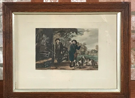 Framed And Glazed Rare 19th Century Hand Coloured Engraving Pheasant Shooting
