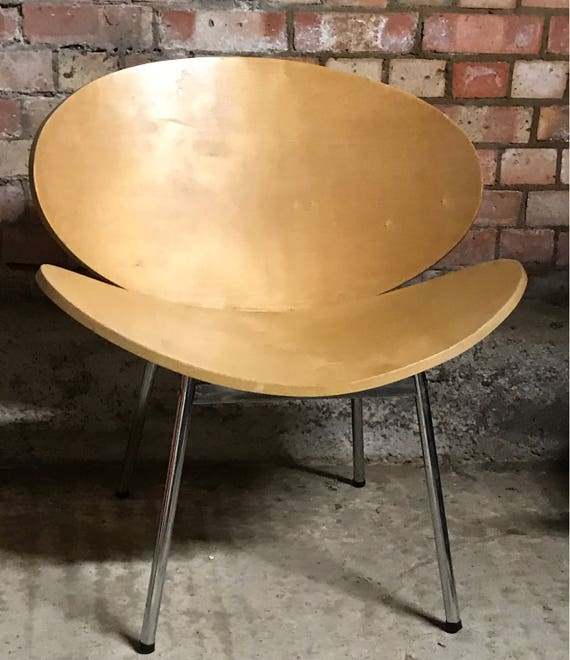 Fabulous Mid Century Clam Shell Plywood Chair In The Manner Of Pierre Paulin