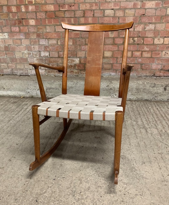 An Original Hans Wegner (1914-2007) Designer Vintage Rocking Chair