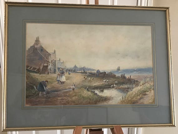 Wonderful 19th Century J Morris Framed And Glazed Watercolour