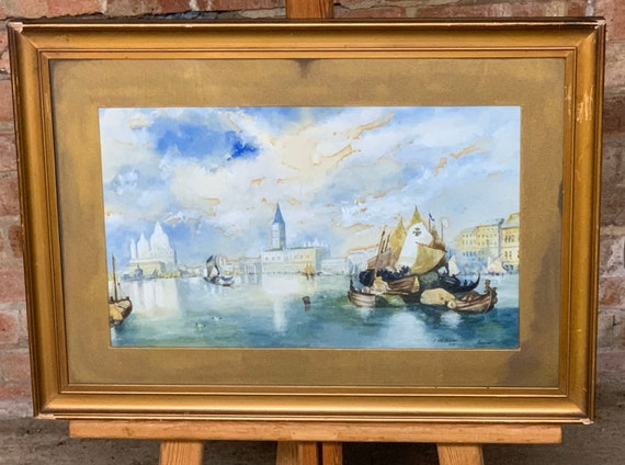 Wonderful Original Watercolour Of Venice Dated 1909 by J Northmore