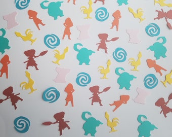 Moana Confetti - Set of 120 - Moana Party - Maui - Hei Hei - Pua - Moana Party Decor