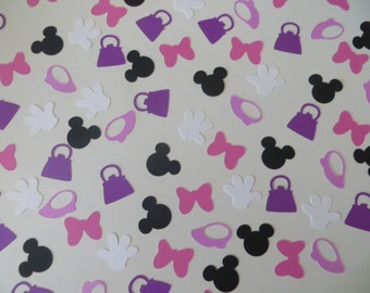 Minnie Mouse Confetti - Set of 150 - Handmade - Disney
