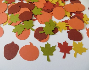 Fall/Autumn/Thanksgiving Confetti - Set of 120 - Handmade
