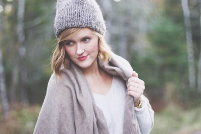 ecf5eb7bf Knit winter hat - Knit wool hat - Women's winter hat - Hand knit wool hat -  Winter beanie - fall fashion, winter fashion | The Fiáin Hat