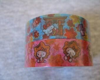 Hello Kitty Hiroshima masking tapes washi tapes rare limited