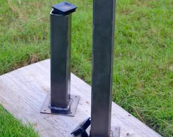 Metal Tube Table Legs. Steel Legs. Steel Tubing Legs (Set of 4) Minimalist Simplistic