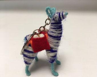 Fox Wire Farm Alpaca/Llama Key Chain