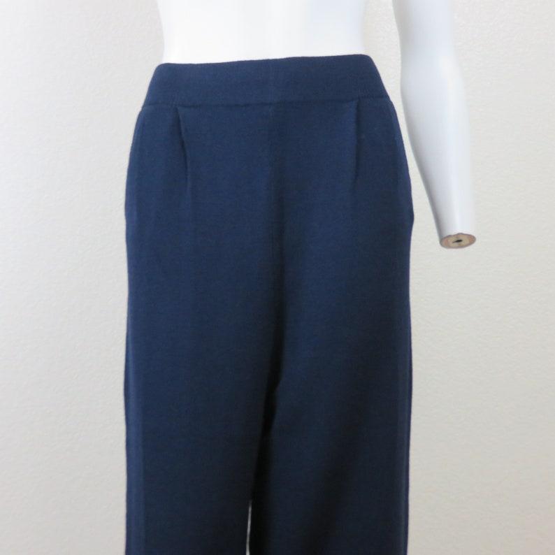 3f800f464 Vintage 1980's St. John Navy Blue Santana Knit Wide Leg | Etsy