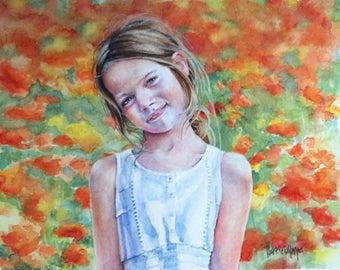 portrait from photo, Custom portrait, watercolour portrait,