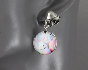 FREE SHIPPING Kidcore Teachercore Toycore Child Play Aesthetic Pierced or Unpierced Bunny Ear Options! Easter 2021 Bunny Egg Earrings
