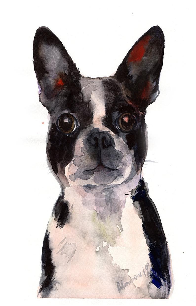 3f2c3578cec Pet Watercolor and Ink Portrait Custom Dog Watercolour