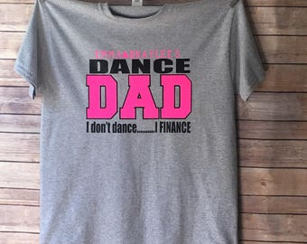 Personalized dance dad shirt