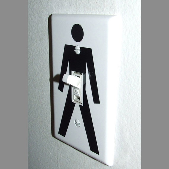 Funny Guy Light Switch Wall Plate Cover Gag Gift Single Etsy