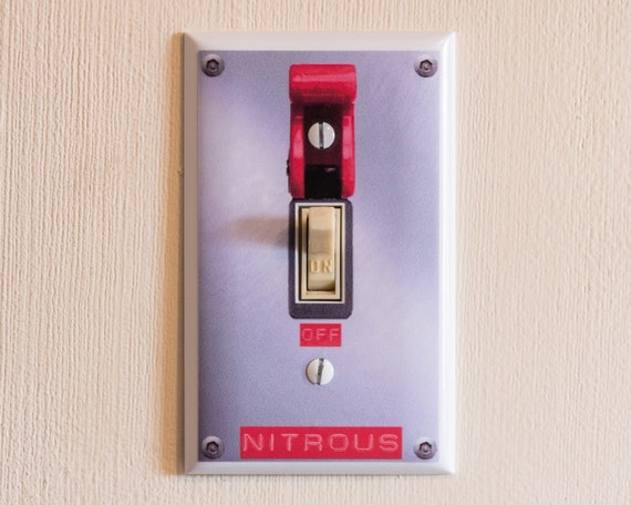Nitrous Switch Light Switch Wall Plate Cover Funny Gag Gift Etsy
