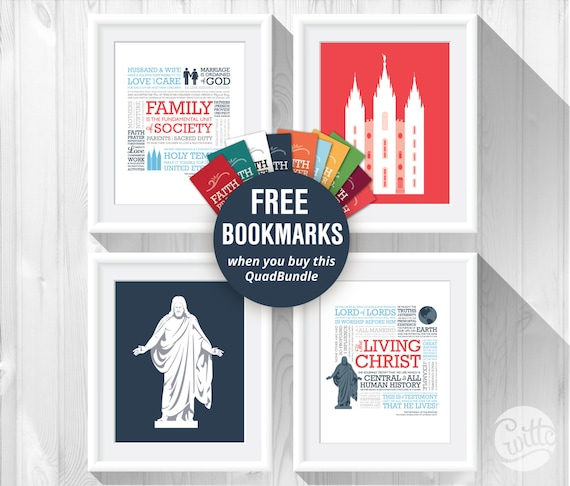 photo relating to The Living Christ Free Printable named LDS Xmas Present, QuadBundle - Loved ones Proclamation, The Residing Christ, Salt Lake Town Temple, and Christus, \