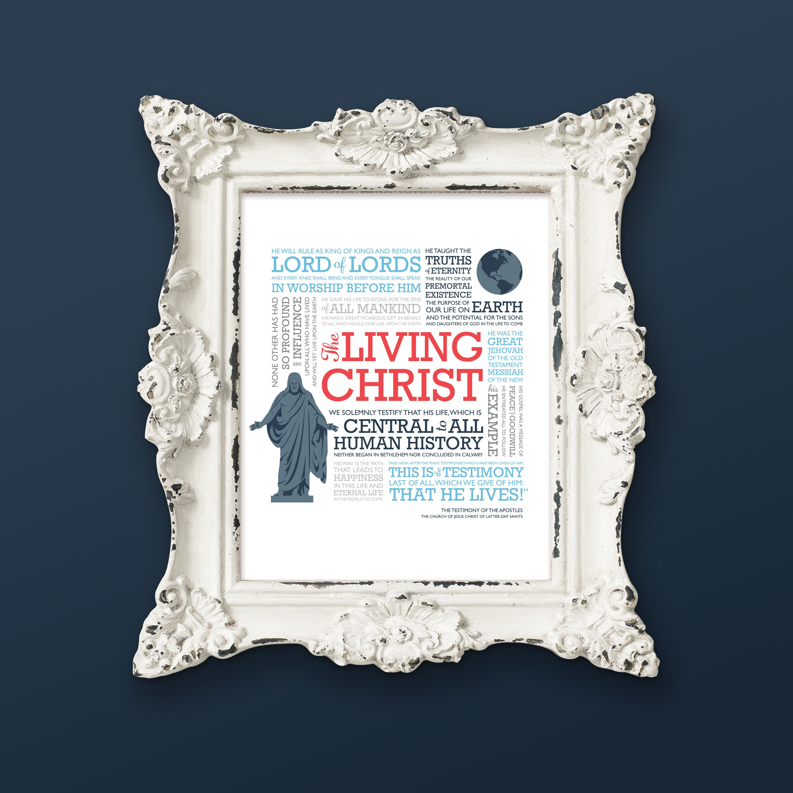 The Living Christ LDS art, 8x10 instant download printable,