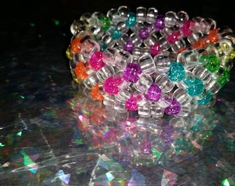Kandi Rave X Cuff in Single to Triple Row Height Option