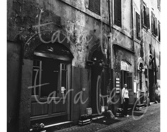 Italy Street Photo | Smoke Break | Digital Download