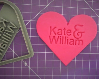 Heart Cookie Cutter | Wedding Cookie Cutter | Personalized | Cookie Cutter | Love Cookie Cutter | 3D Printed Custom Cookie Cutter,