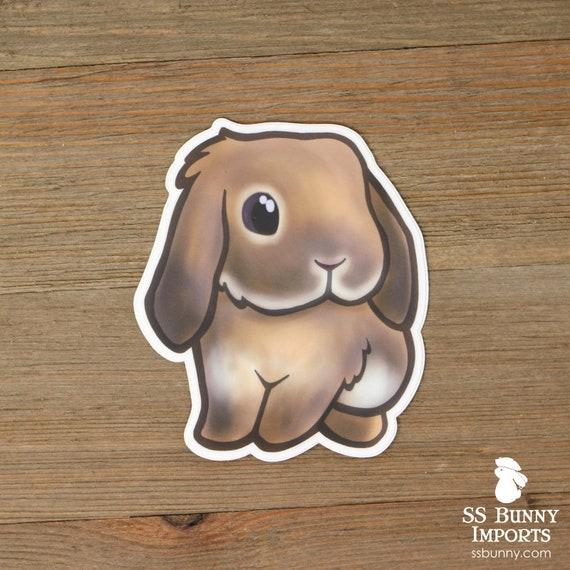 Lila Agoeti Hangoor Konijn Sticker Gedrukte Chibi Bunny Vinyl Etsy