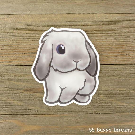 Frosty Hangoor Konijn Sticker Gedrukte Bunnyvinyl Computer Etsy