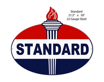 Louisiana Standard Oil Vintage Design Sign Metal Decor Gas and Oil Sign