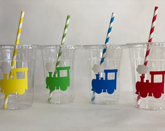 Railroad Party CupsTrain Theme Party CupsTrain Party 12 oz cupRailroad Party Supplies
