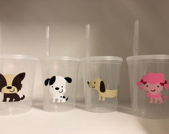 Dog Party Favors Puppy Adopt A Pet Cups Birthday