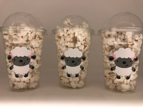 8 Lamb Baby Shower Cups