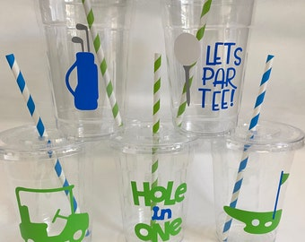 Golf party cups,Golfer party Cups, Golf Birthday Party, Golf Baby Shower,Golf Party Favors,Golf Party Supplies,Golf Team Party,Retirement