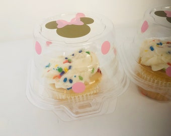 Minnie Mouse Party Cupcakes, Minnie Mouse Party Favors, Mickey Mouse Party cupcakes,  Red Minnie Party, Minnie Party supplies