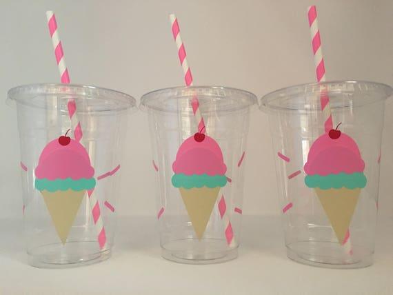Ice Cream Party Cups Ice Cream Birthday Party Ice Cream
