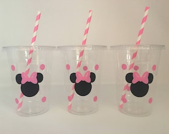 Minnie Mouse Party Cups, Minnie Mouse Birthday Party Cups