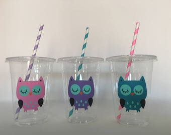 Owl party cups, Owl Birthday Party Cups, Owl Baby shower Cups