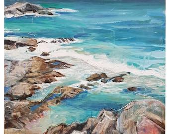 Original painting 'Rock pools.'