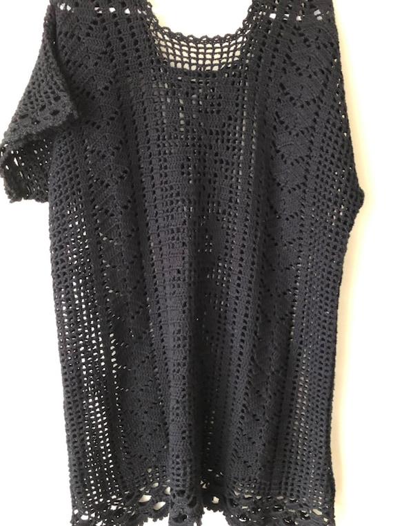 70s Vintage Crochet Dress - image 3