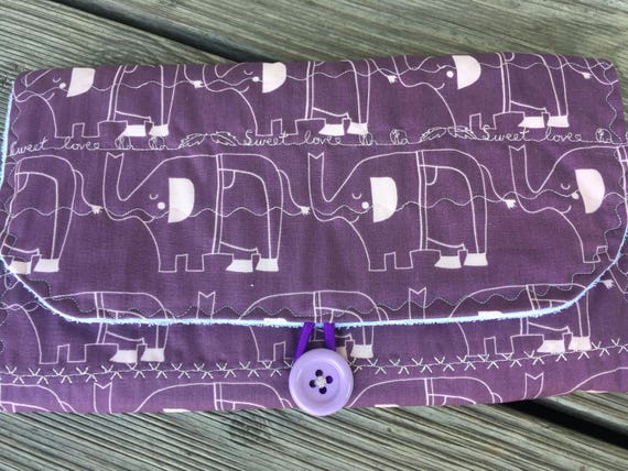 Heide Babyclutch: couches de sacs et tapis à langer en même temps * purple éléphant *.