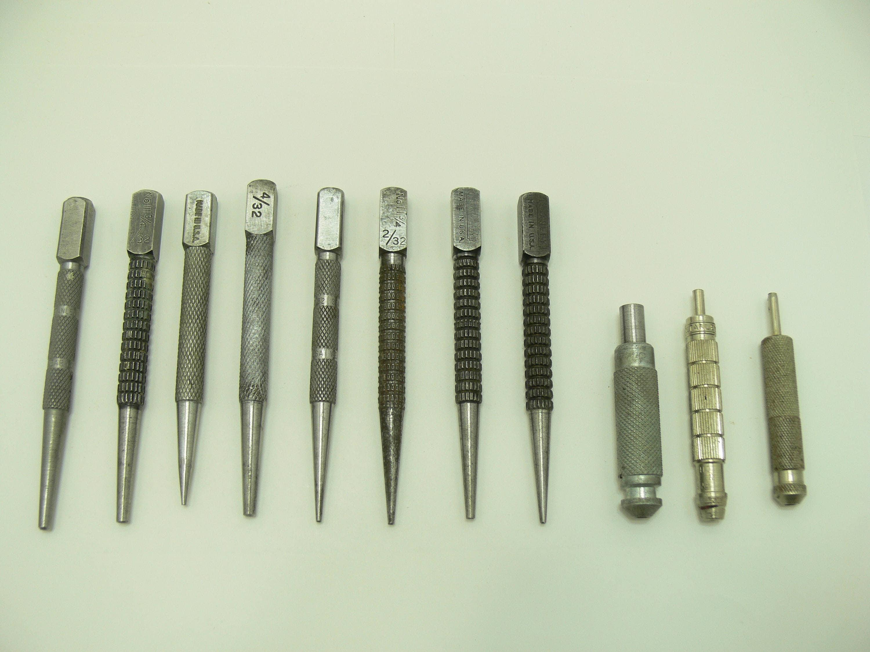 Vintage set de uñas uñas herramientas set punch-stanley punch-punch ...