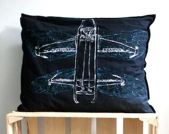 Dragonfly pillow, Steampunk decor, Steampunk home decor, Steam punk gifts, Steampunk pillow, Post apocalypthic decor, Alternative decor